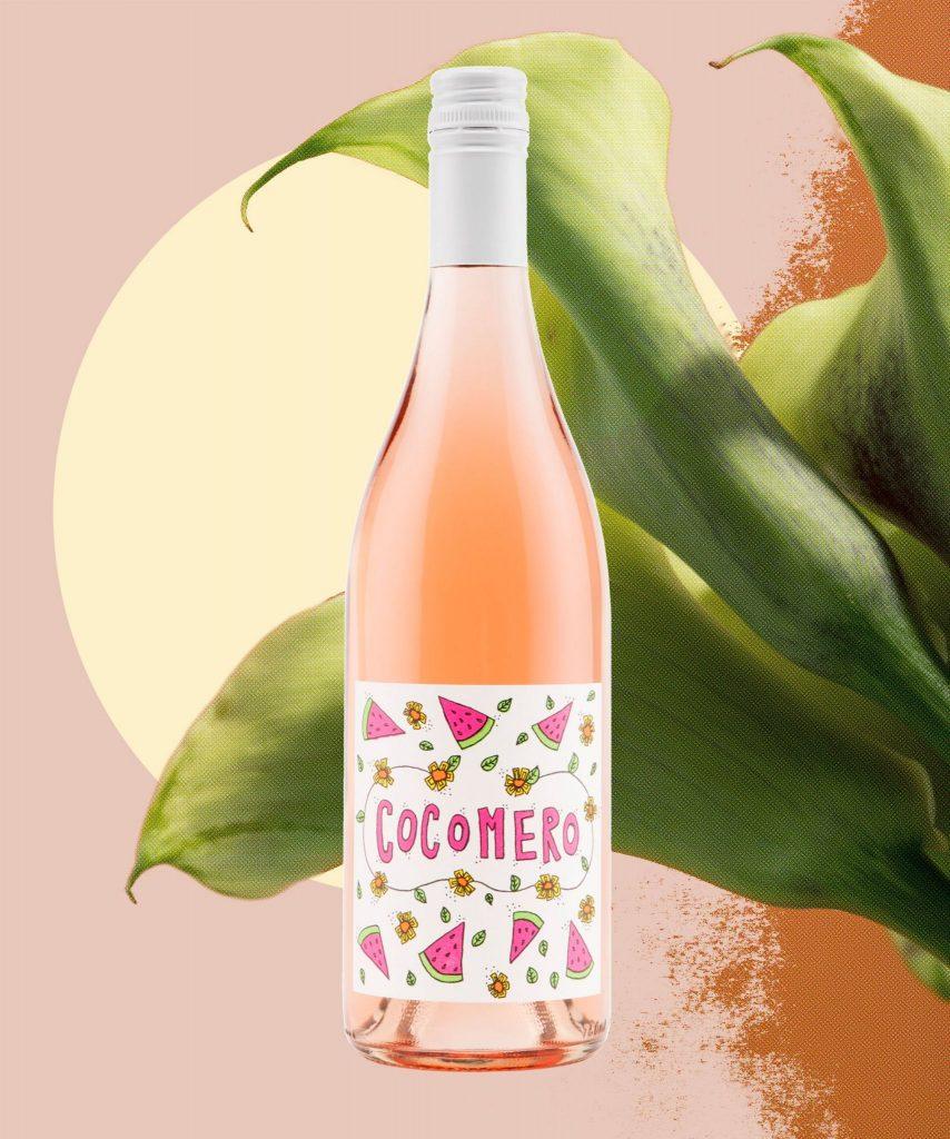 El vino Cocomero Rosé permite rascar la etiqueta y oler a lo que huele el vino en su interior