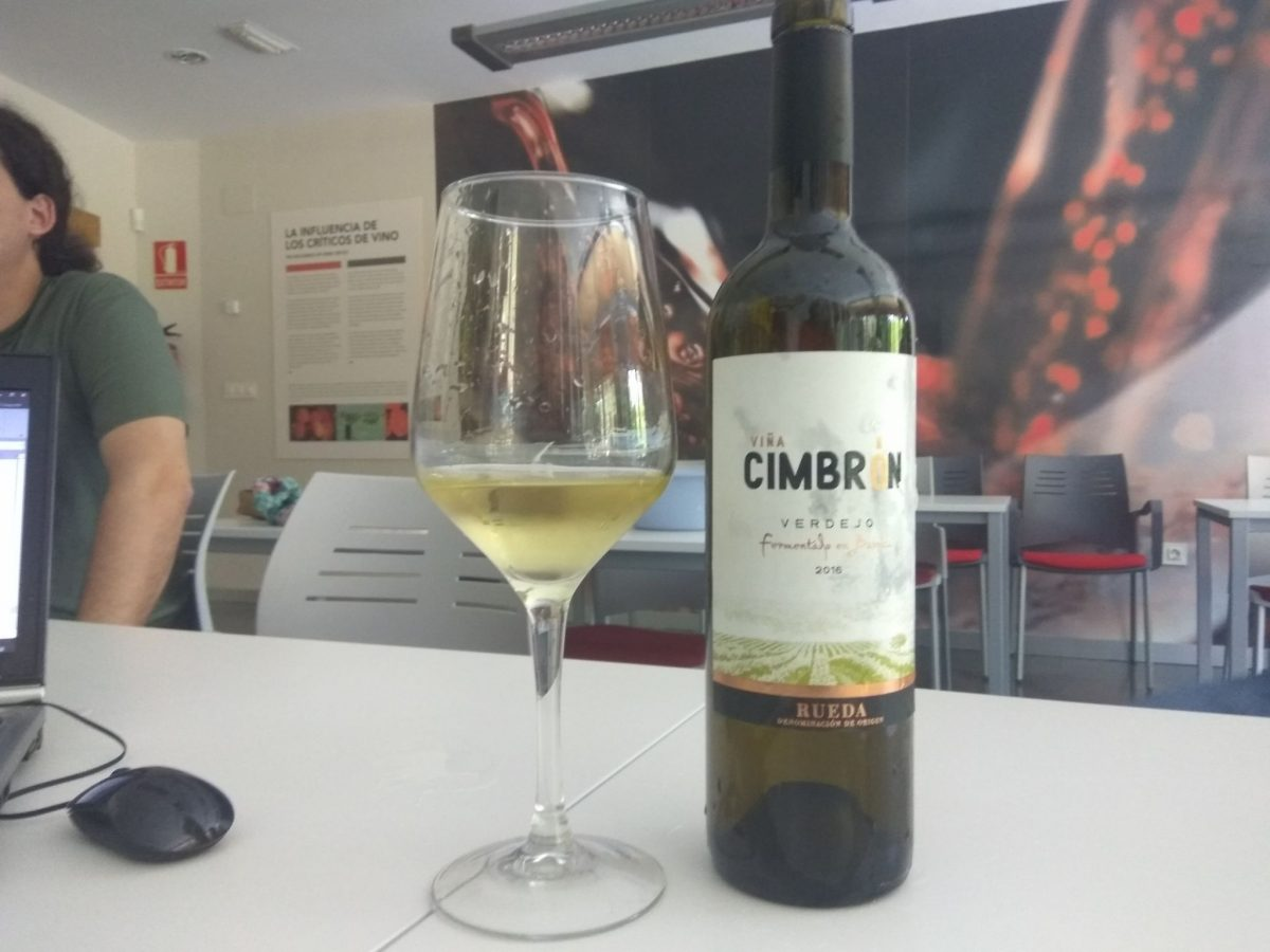 Viña Cimbrón Verdejo Fermentado en Barrica 2016 mejor vino blanco español en UK
