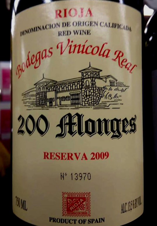 200 Monges Reserva 2009