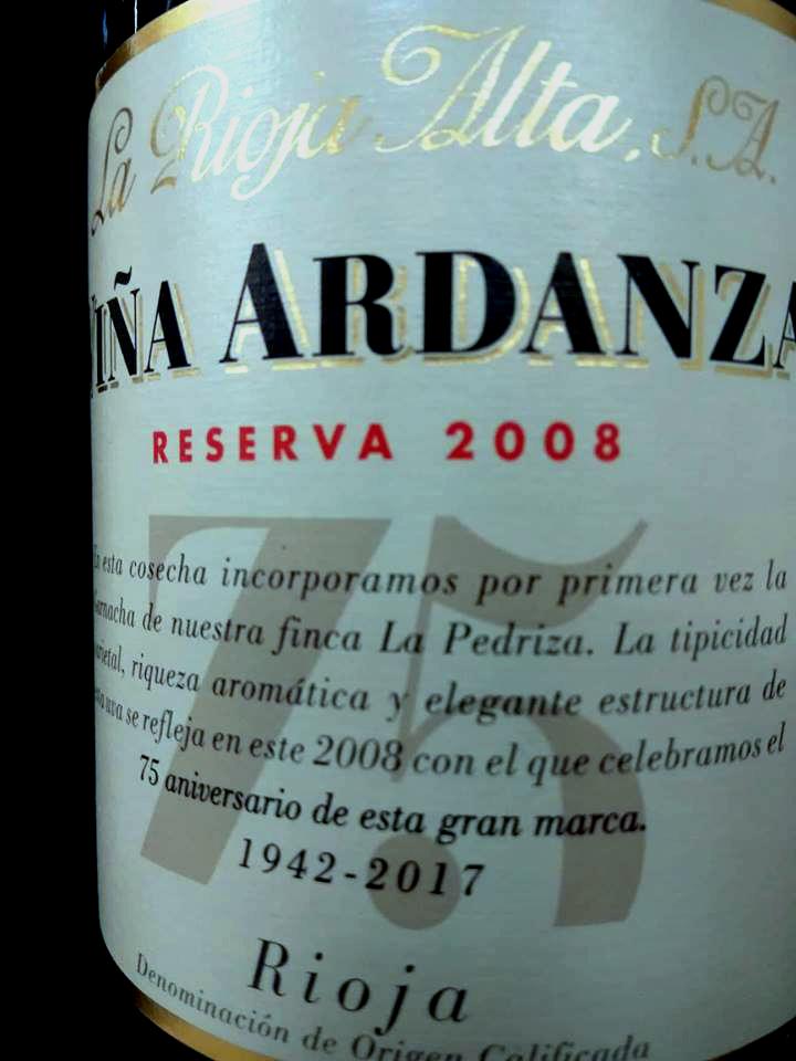 Viña Ardanza Reserva 2008
