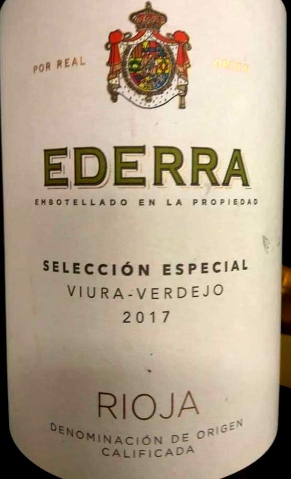 Ederra Selección Especial Viura - Verdejo 2017