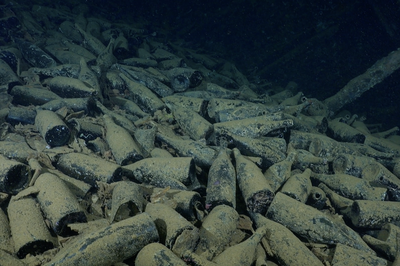 Cientos de botellas de vino de época y champán descubiertos en un naufragio