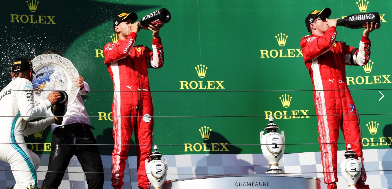 La botella de champagne oficial para el Gran Premio de Fórmula 1 De Mónaco 2019