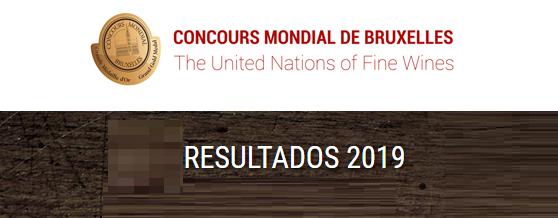 Resultados del Concours Mondial de Bruxelles 2019