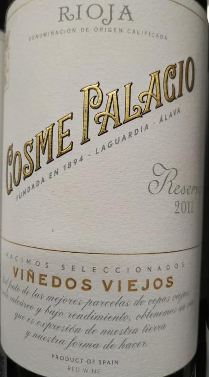 Cosme Palacio Reserva 2011