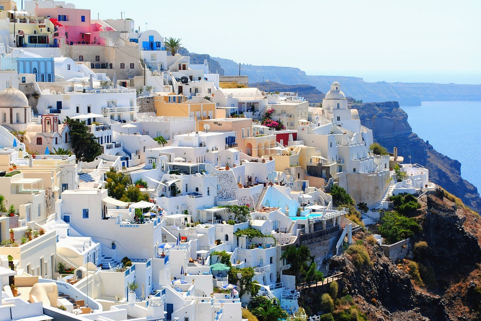 Vino en Santorini