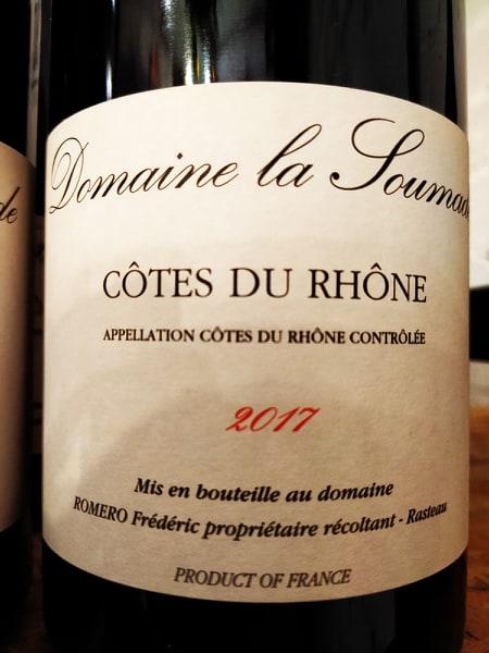 Domaine la Soumade Cotes du Rhone 2017