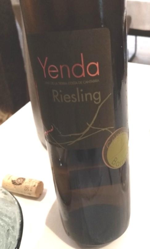 Yenda Riesling en Barrica 2017